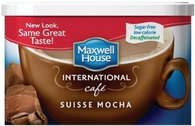 Maxwell House International Coffee Decaf Sugar Free Suisse Mocha Cafe, 4-ounce Cans (Pack of 3)