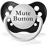 Personalized Pacifiers Mute Button Pacifier in Black