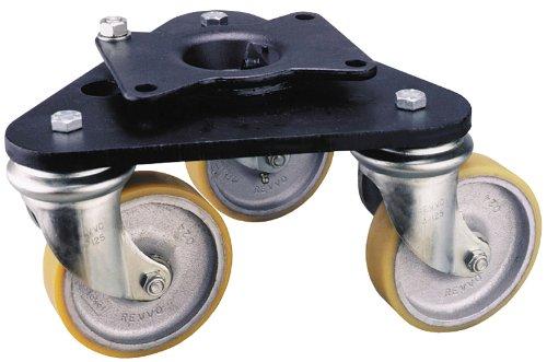 Nylon Wheel 2 Wheel Dia 4-3//16 Plate Width 9//16 Wheel Width 790 lbs Capacity 3-3//4 Mount Height 6 Plate Length Swivel Revvo Caster Scene Shifter Series Low Profile Plate Caster