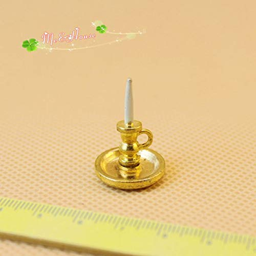 Dollhouse Miniatures 1/12 Scale Candle Sticks; Dummy Light High 2.5cm - Candle China