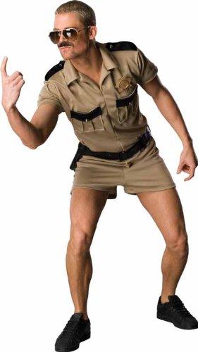Reno 911 Dangle Costume, Brown, Standard - Movie Star Fancy Dress Costume