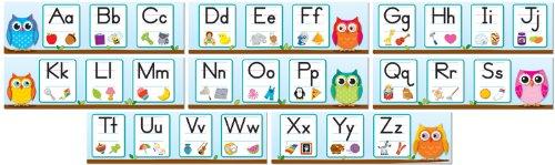 Colorful Owls Alphabet Mini Bulletin Board Set