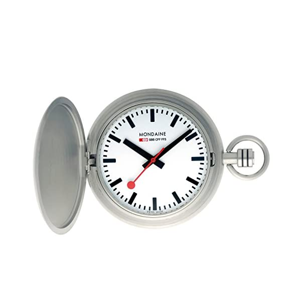 Mondaine-Mens-A6603034916SBB-Savonnette-II-Steel-Band-Watch