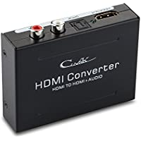 Audio Extractor- CiNgK HDMI to HDMI + Optical Toslink(SPDIF) + RCA(L/R) Stereo Analog Audio Converter Separator