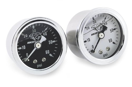 Bikers Choice Oil Pressure Gauge 0-60 PSI White for Harley