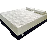 Oshion 10 Two Layer Queen Size Traditional Firm Memory Foam Mattress Bed + 2 Pillows.