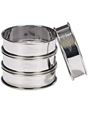 Patisse 02141 4-Piece Round Double Rolled Tart Rings Set