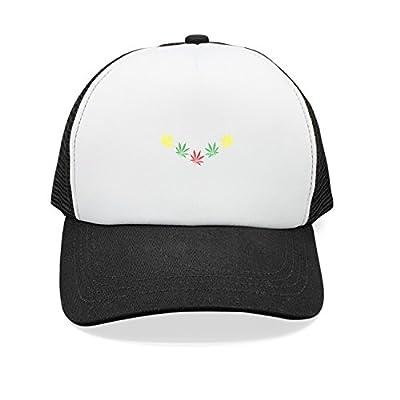 Trum Namii Unisex Mesh Back Trucker Hats Marijuana Leaf Weed Cannabis Womens Baseball Cap