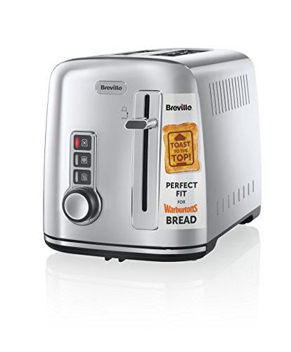 Breville VTT571 4-Slice Toaster the Perfect Fit for Warburtons