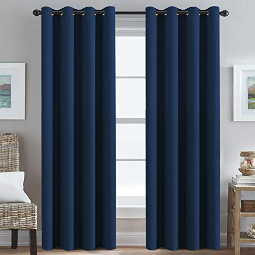 Ultra Thick and Soft Curtains Blackout for Bedroom Window Treatment Boys Girls Kids Bedroom Curtains Thermal Insulated Grommet Blackout Curtain Panels for Living Room - 52