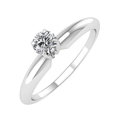 IGI Certified 14k Gold Solitaire Diamond Engagement Ring Band (1/4 Carat)