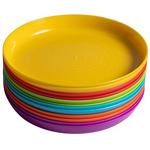 Klickpick Home Kids colorful Plates set - 6 colors (12 PCS PLATE)