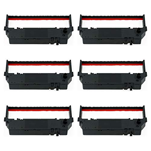 LOT 6 PrinterField Black Red POS Printer Ribbon Cartridge Replacement for Use on Star -