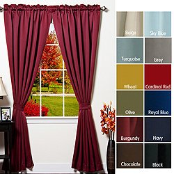 Solid Thermal Insulated 108 Inch Blackout Curtains In Chocolate
