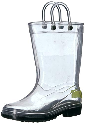 Western Chief Kids Baby Clear PVC Boot Rain, 7/8 M US Toddler -