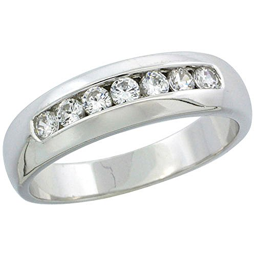 Classic Channel Set Wedding Ring - 4