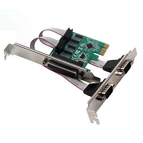 FidgetKute 2 RS232 Serial + 1 DB25 Printer Card Adapter