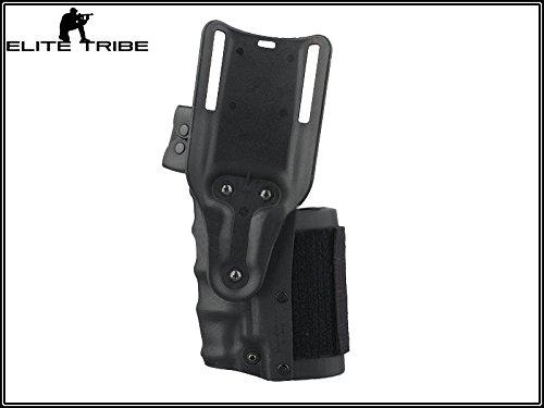 Military Paintball Gun Pistol Holster Safriland Style 3280 Pistol Model Waist Leg Holster Black by Paintball Equipment (Image #2)