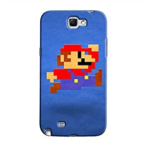Cover It Up - Mario Pixelated Blue Galaxy Note 2 N7100 Hard Case
