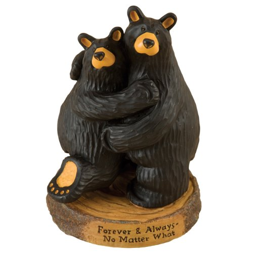BearFoots Forever and Always Wedding Anniversary Black Bear Couple (Big Sky Bear)
