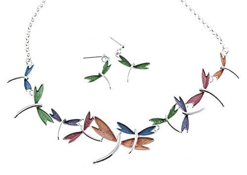 Shagwear Womans Dragonflies Necklace Earring