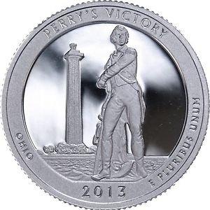 2013 S America the Beautiful Ohio Perry's Victory Silver Quarter PF1