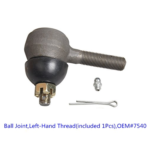 Ball Joint 7540,Tie Rod End with Grease Fitting Fits for Club Car DS Golf Carts (1976-2008),Left-Hand Thread