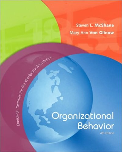 mcshane s organizational behaviour Steven l mcshane is professor of management in the business school at the university of western australia (uwa), where he receives high teaching ratings.