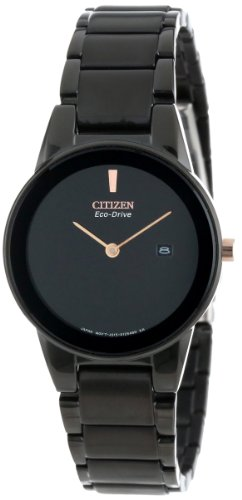 "Citizen Women's GA1055-57F  Eco-Drive ""Axiom"" Black Stainles"