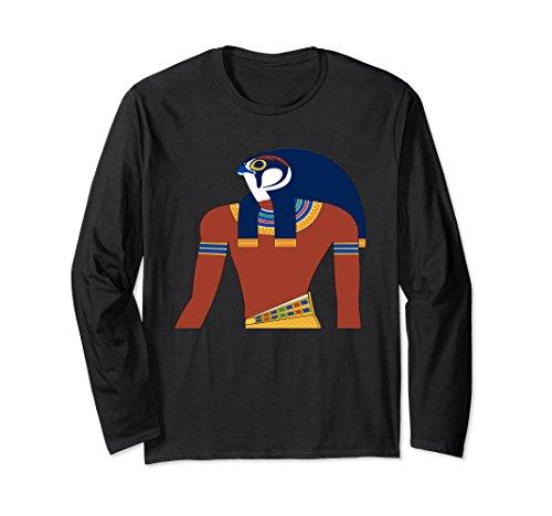 Unisex orus Long Sleeve T-Shirt Egyptian God Ancient Egypt Large Black