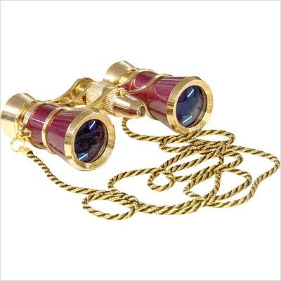 Carmen Opera Glasses with Flashlight Finish: Burgundy/Golden