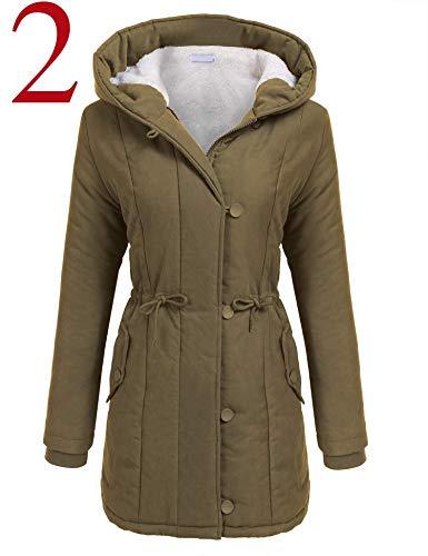 vermers Women Coats Winter, Womens Warm Long Coat Fur Collar