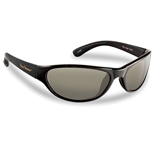 Flying Fisherman Key Largo Polarized Sunglasses (Matte Black Frame, Smoke - Sunglasses Brand Outlet