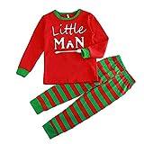 Xinvision Christmas Family Pyjamas Letters Printed Clothing Family Pajamas Suit