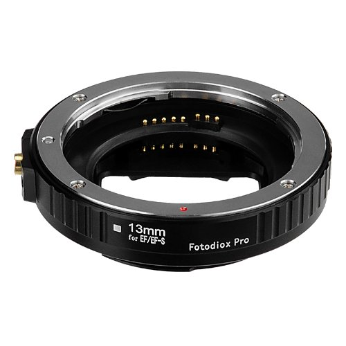 Fotodiox Pro Auto Macro Extension Tube, 13mm Section - for Canon EOS EF/EF-s Lenses for Extreme Close-up