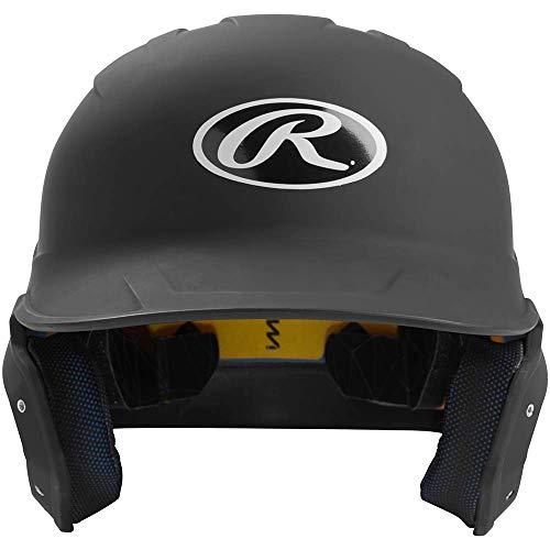 (Rawlings MACH-B7-SR 2019 Mach Baseball Batting Helmet, Matte Black)