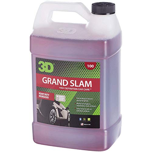 - 3D Grand Slam Engine Degreaser - 1 Gallon | Heavy Duty Industrial Cleaner & Degreaser | Removes Grease & Oil | Non Toxic & Biodegradable | Made in USA | All Natural | No Harmful Chemicals