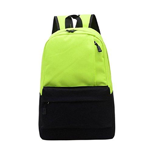lookatool-unisex-vintage-canvas-backpack-rucksack-school-satchel-hiking-bag-bookbag-green