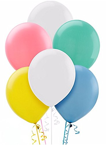 Enchanting Pleasant pastel colors Latex Balloons Party Decoration, 5'', Pack of 50.