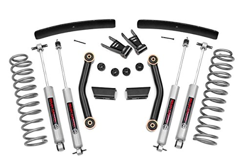 Rough Country - 62630 - 4.5-inch Suspension Lift Kit w/ Premium N3 Shocks for Jeep: 86-92 Comanche MJ 4WD