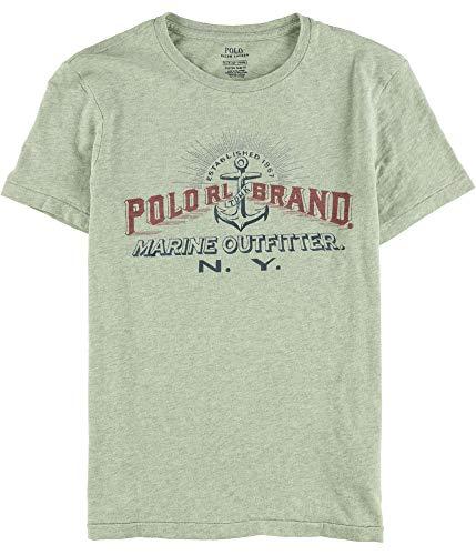 Polo Ralph Lauren Mens Custom Fit Graphic Logo T-Shirt - S - Grey Heather ()