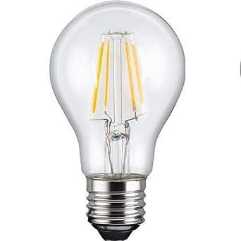 Bombilla LED E27 filamentos, iluminacion 4W (450 lm), 2700K (luz calida