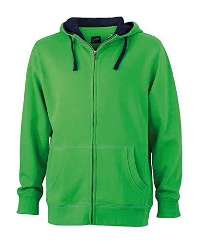 Zip Felpa Giacca hoody Cappuccio Lifestyle In Zip E Men's navy Green IRIwATq