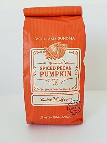 Williams Sonoma Spiced Pecan Pumpkin Quick Bread Mix (18 oz) (ONE BAG) (Bite Size Baby Ruth)