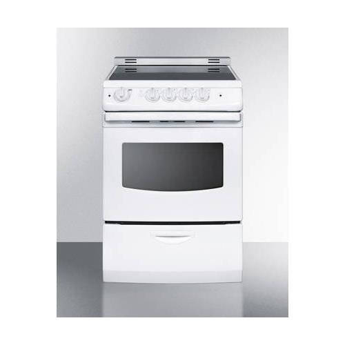 Summit REX242WRT Kitchen Cooking Range, White