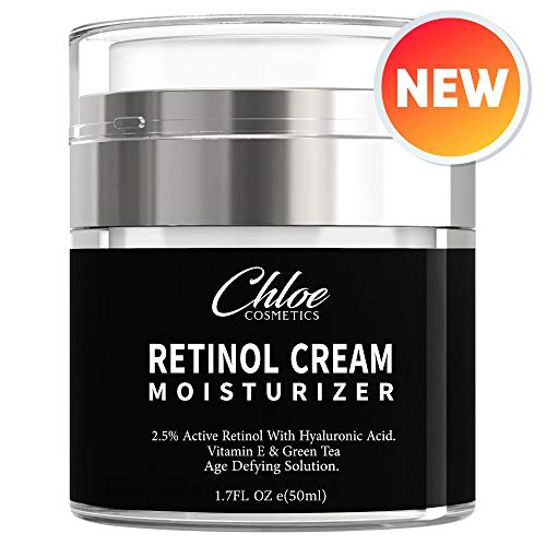 Retinol Moisturizer for Face and Eye area | Anti Aging Cream with Hyaluronic Acid, 2.5% Active Retinol and Vitamin E | Reduces Appearance of Wrinkles and Fine lines | Best Day and Night Face Cream