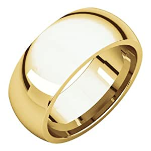 10k Yelllow Gold 8mm Comfort Fit Band, 10kt Yellow gold, Ring Size 10
