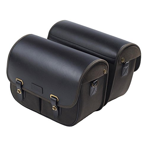 Triumph Bonneville Wax Cotton Luggage - Leather Saddlebags (Triumph Motorcycle Luggage)