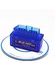 Mini scanner OBD2 Bluetooth OBDATOR ELM327 Leitor de código OBD OBDII automotivo Ferramenta de verificação de diagnóstico de luz de motor de verificação de carro para PC Android (azul)