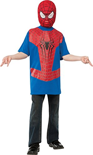 Over The Top Kids Costumes (The Amazing Spider-man 2, Spider-man Costume Top and Mask, Child Small)